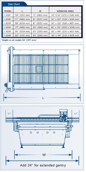 1000 specs - MultiCam 1000 Series CNC Plasma