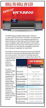 vanguard 3200 product sheet 2 - Vanguard  VKR 3200 ROLL-TO-ROLL UV LED
